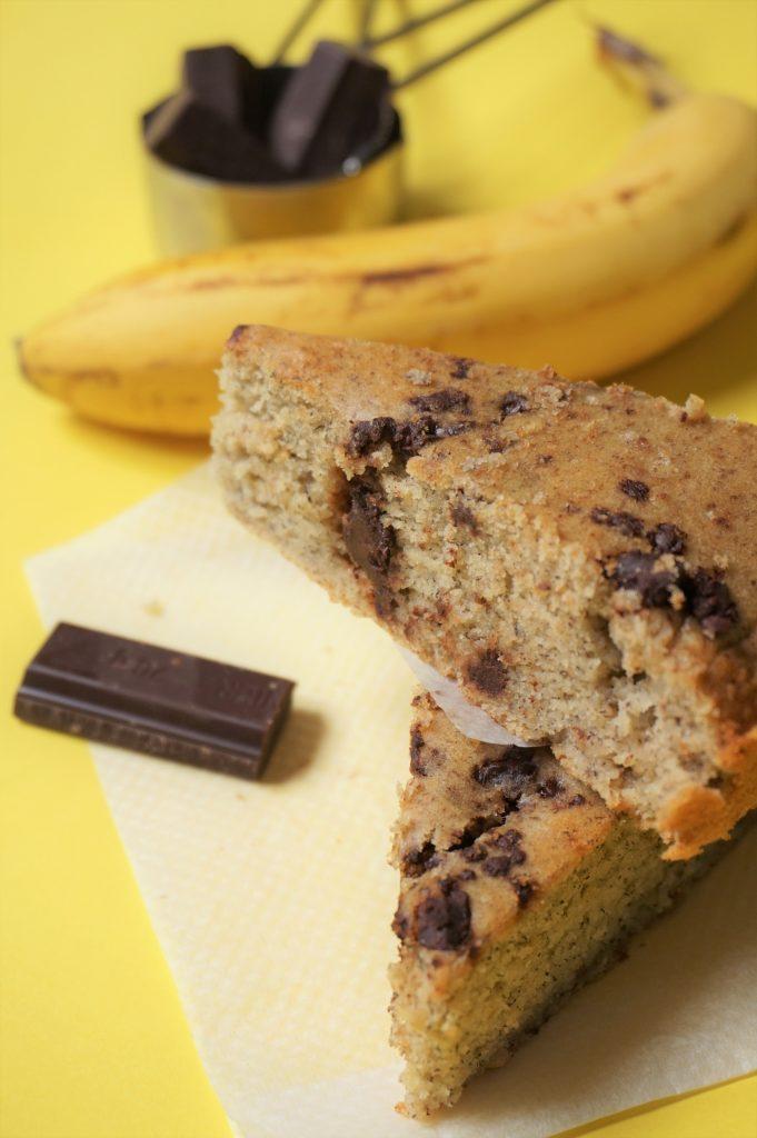 vous reprendrez bien une part de ce banana bread au chocolat